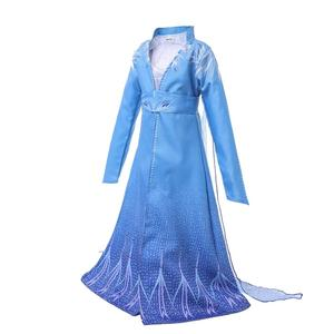 Image 3 - 2019 yeni film dondurulmuş 2 Fantasia top bebek kız Anna Elsa parti prenses mavi elbise çocuklar cosplay anime kostüm karnaval elbise
