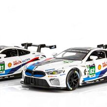 Simulation BMWI M8 Rally Car Childrens Acoustic Alloy Toy Model