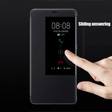 Vista Caso Inteligente Original Para Huawei Companheiro 20 Pro Auto Sono Wake Up Flip Tampa Slim Caixa Do Telefone Para Huawei mate20 Fundas Capa