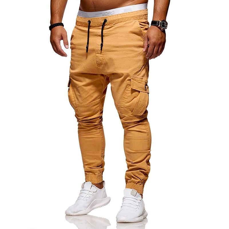 2019 new summer mens slacks sport pants cargo multi-pocket joggers high quality M-3XL
