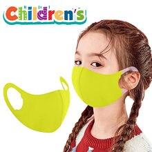 Mascarilla facial reutilizable para niños y mujeres, máscara de tejido transpirable, lavable, para la boca, para la familia, sin decoración