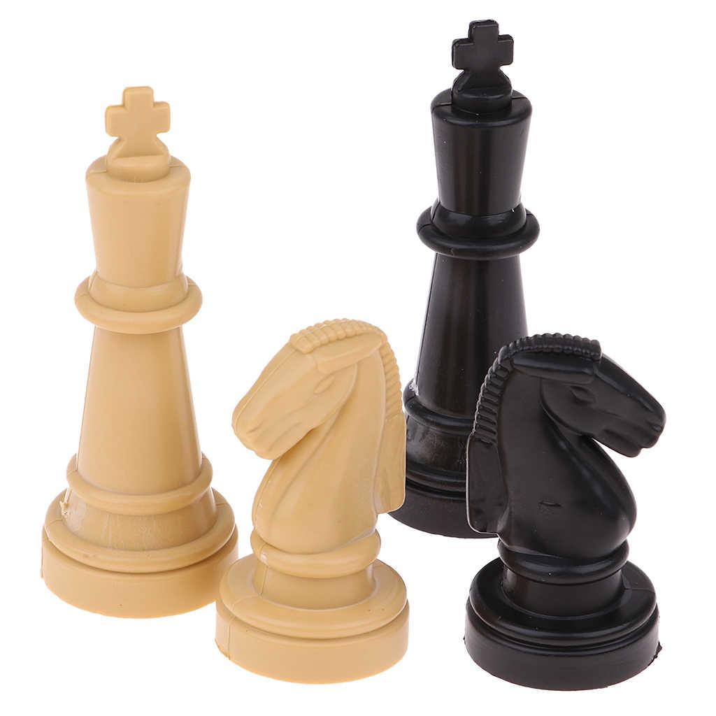 عالية الجودة 1.9 بوصة غير سامة البلاستيك مدقق الغيار قطع الشطرنج مجلس لعبة الاكسسوارات حزمة من 32 هدية عيد ميلاد لوازم