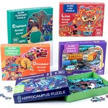 Enfants Puzzle en bois Puzzle éducatif dessin animé Animal hétéromorphisme Puzzle enfant en bas âge éducation jouets développement du cerveau