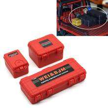 3Pcs/Set Mini Storage Tool Box Cases for 1/10 RC Crawler Car SCX10 D90 TRX4 Novel appearance and exquisite workmanship(China)