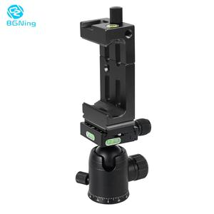 Image 1 - BGNing 360 Degree Panorama Ball Head Tripod Camera Mount Stand  Phone Holder Clip XJ 8 Flashlight Microphone With Spirit Level
