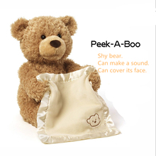 New Style Hot Selling American Peekaboo Bear Talking Will Move The Teddy Electric Voice Over Face Shy Plush Toy