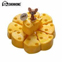 SHENHONG fromage en forme de gâteau Moule pour la cuisson Dessert anneau Art Mousse Silicone 3D Moule silikondois Moule Pan pâtisserie outils