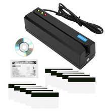 MSR605X Magnetic Strip Card Reader LED Indicator Magstripe Writer 3 Tracks support for IBM ISO ANS DIN