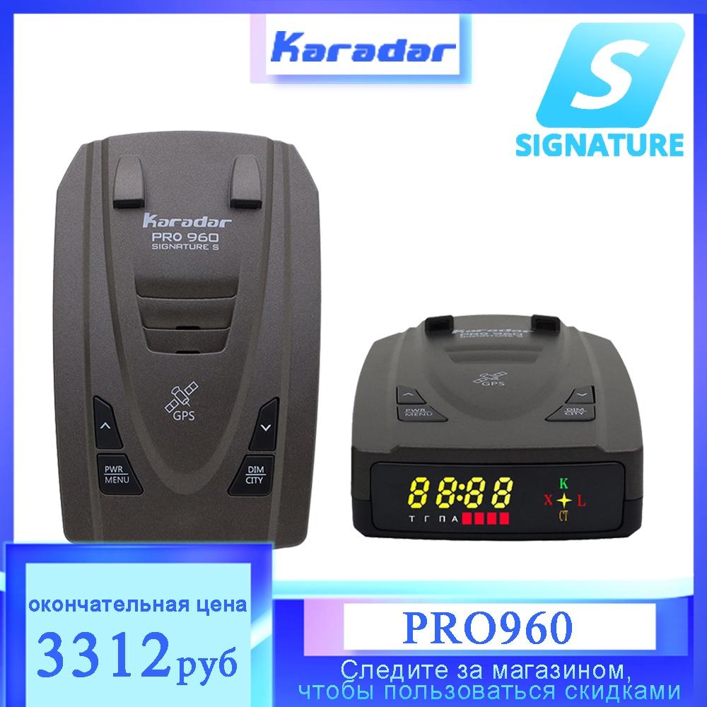 Karadar 2021 New Car Anti Radar Detector with GPS 2 in 1 Signature Mode Russian Alarm Warning LED Identify X CT K La CORDEN