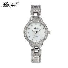 Женские часы missfox роскошные с браслетом из нержавеющей стали