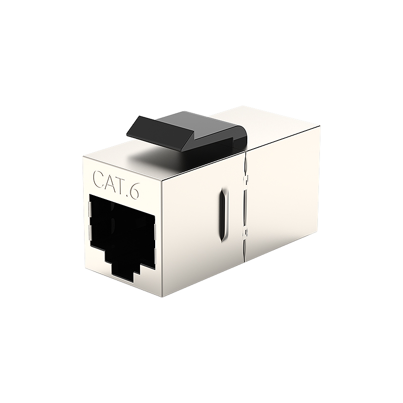 RJ45 Cat6 Keystone Adapter Female Inline Coupler Network FTP STP Cable Extension Connector For Face Plate Blank Patch Panel