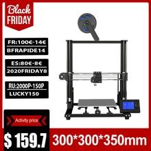 Anet A8 Plus Nâng Cấp Máy Tính Để Bàn 3D Máy In I3 DIY Bộ Dụng Cụ Tự Lắp Ráp In Kích Thước 300*300*350Mm màn Hình LCD Bảng Điều Khiển
