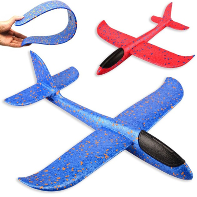 Kids Hand Throw Flying Glider Plane Toys 48cm EPP Foam Plane Toy Ultralight Aircraft Airplane Model Toy Kids Outdoor Toys Games image