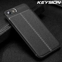 KEYSION Caso Antiurto per il iPhone SE 2020 Nuovo In Pelle di Silicone Della Copertura Del Telefono per il iPhone 11 Pro Max XR XS Max 8 7 6 6s Plus 5 SE