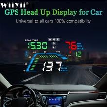 Q7 אוניברסלי רכב GPS HUD מד מהירות רכב אלקטרוניקה Q700 OBD ראש למעלה תצוגה שמשה קדמית מקרן אבטחה מעורר נהיגה