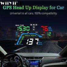 Q7 Universal GPS para coche HUD velocímetro electrónica de coche Q700 OBD Head Up pantalla parabrisas proyector alarma de seguridad de conducción