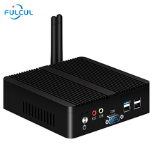 Mini PC Intel Industrial Pentium J2900 Quad-cores Windows 10 2 * RS232 HDMI VGA 4 * USB 2 * Gigabit Ethernet WiFi Bluetooth Mini ITX