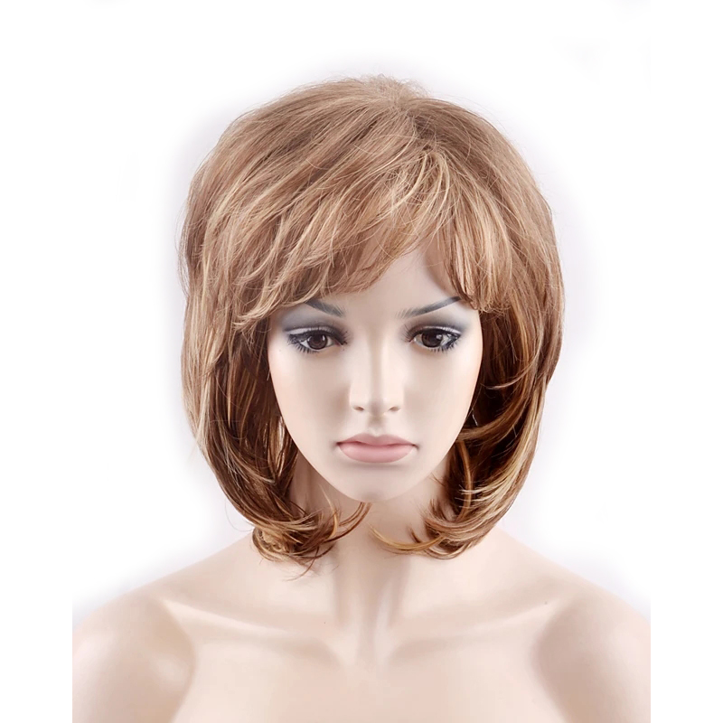 HAIRJOY Women  Short Layered Fluffy Curly Heat Resistant Synthetic Hair Wigs 6 Colors Available