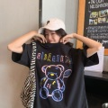 Sommer Neue frauen T-shirt Streetwear Tops Ulzzang Harajuku Vintage Print Frauen T-shirts Oversize Lose zubehör album brandy