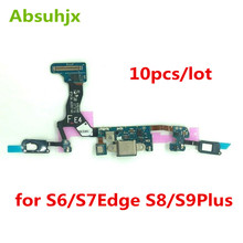 10pcs Charging Port Flex Cable for Samsung S6 S7 Edge S8 S9 Plus G920F G925F G930F G935F G950F G960F G955F USB Dock Conector