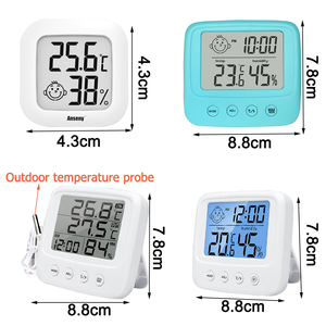 Комнатный цифровой термометр гигрометр с ЖК экраном, миниатюрная уличная Электронная метеостанция для измерения температуры и влажности для детской комнаты Приборы для измерения температуры      АлиЭкспресс