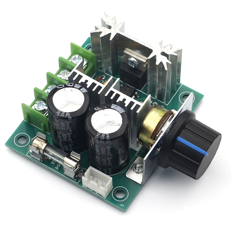 DC 12V 24V 30V 40V 13KHZ Auto PWM DC Motor Speed Regulator Governor Speed Controller Switch 10A 50V 1000uF