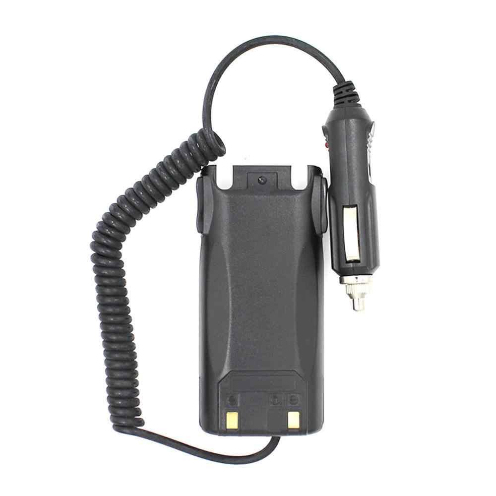 rongweiwang eliminador de UV-82 Walkie Talkie Cargador de Coche para el walkie Adaptador eliminador de bater/ías para Radio de 2 v/ías