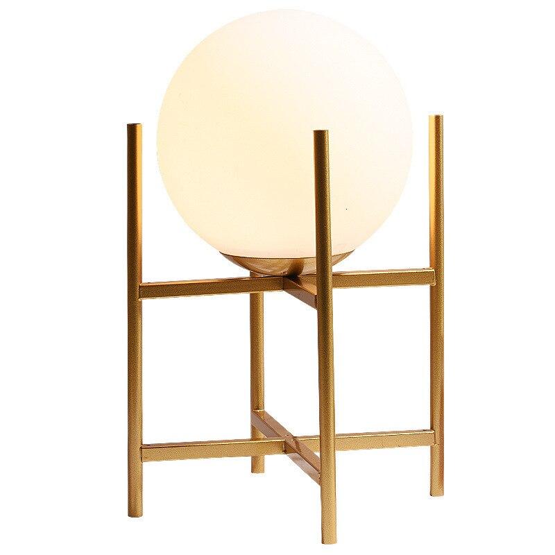 Настольная лампа в скандинавском стеклянном шарике для гостиной, чайный столик, прикроватная декоративная настольная лампа - 5