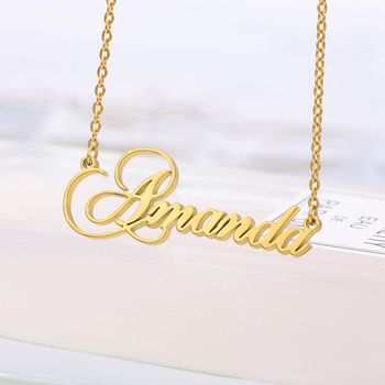 Personalized Name Necklace,Custom Necklace, Custom Love Necklaces Stainless Steel Jewelry, Customized Gift for Women Girls