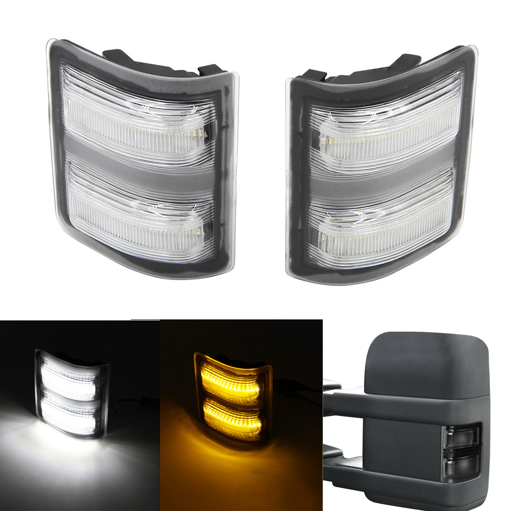 Smoked lens-Yellow 2x Amber LED Side Mirror Marker Signal Lights Lamp Smoked Lens For Ford F-250 F-350 F-450 F-550 Ford Super duty 2008 2009 2010 2011 2012 2013 2014 2015 2016
