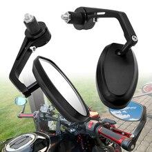 אופנוע מראה לבן זכוכית ידית בר אנד Rearview צד מראה לסוזוקי GSXR GSX R 600 750 1000 K1 K2 K3 k4 K5 K6 K7 K8 K9
