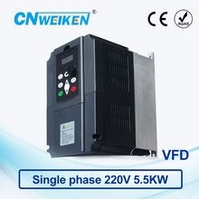 цена на WK600 Vector Control frequency converter 5.5kw Single-phase 220V to Three-phase 220V VFD inverter Engine Frequency Controller