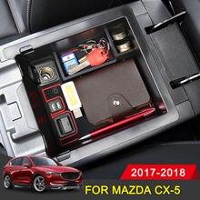 Boîte de rangement pour accoudoir Central de voiture, boîte de rangement pour Mazda CX5 CX5 2017 2018 accessoires de voiture, style automobile