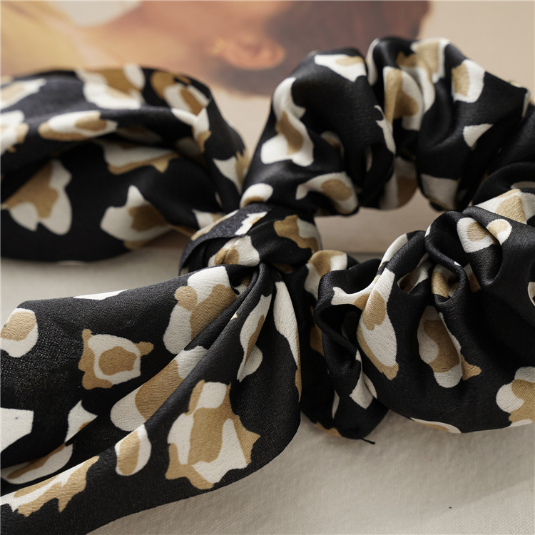 H2b63c00566e440b58fb9ea748aabb32dM - Fashion Feamle Bow Knotted Hair Rope Long Streamer Scrunchies Vintage Leopard Girls Hairband Hair Scarf Hair Accessories