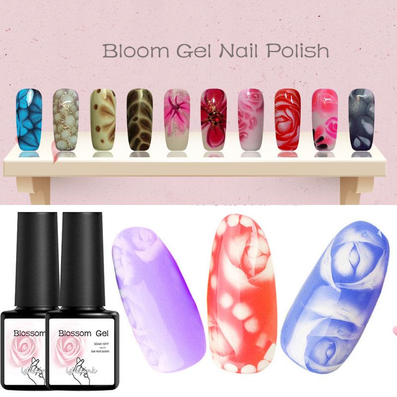 Transparent Nail Paint Blossom Gel Nail Art DIY Magic Flower Blooming Effect Gel Polish Soak Off UV Nail Glue Draw Gel Varnish