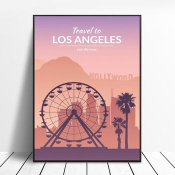 Los Angeles Canvas Travel poster Wall Art Pictures for Living Room Home Decor No Frame