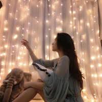 LED perde ışık 2X1.5 noel açık renkli ışıklar tatil saçağı ışıkları vitrin dekoratif ışıklar şelale ışıkları çapa