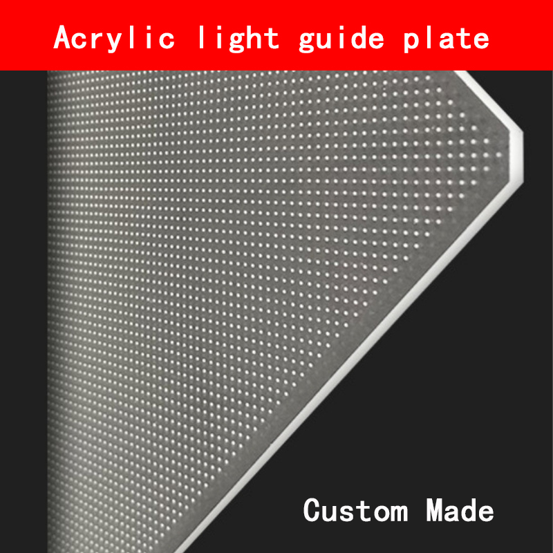 LED LCD Acrylic Light Guide Plate Can Be Laser Spotted Light Guide Plate Thickness 2mm-10mm Custom