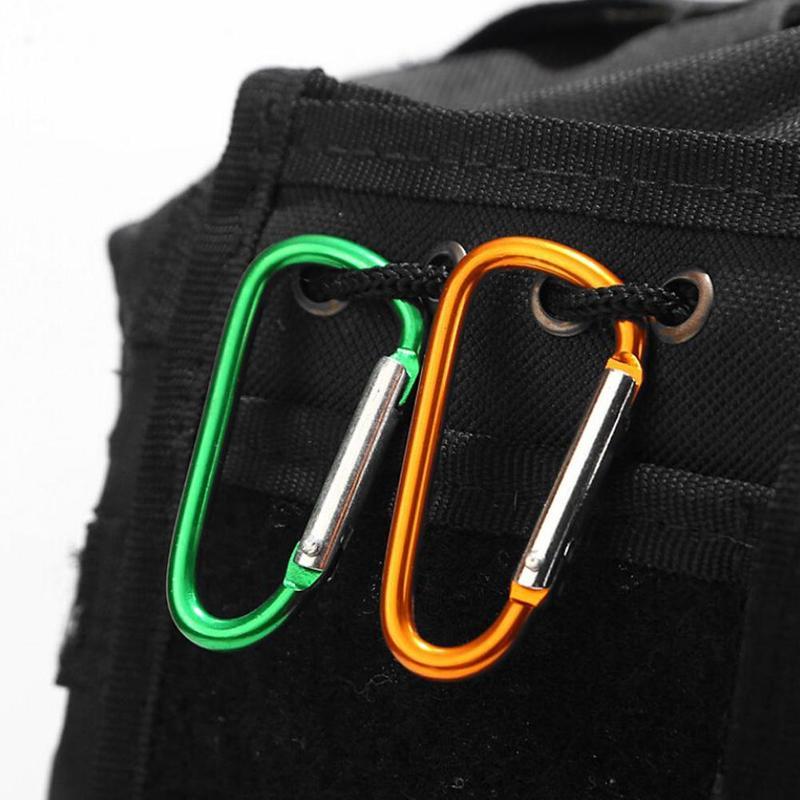 10pcs Carabiner Clip Clasp Spring Hook Keyring Buckle Camping Carabina QN