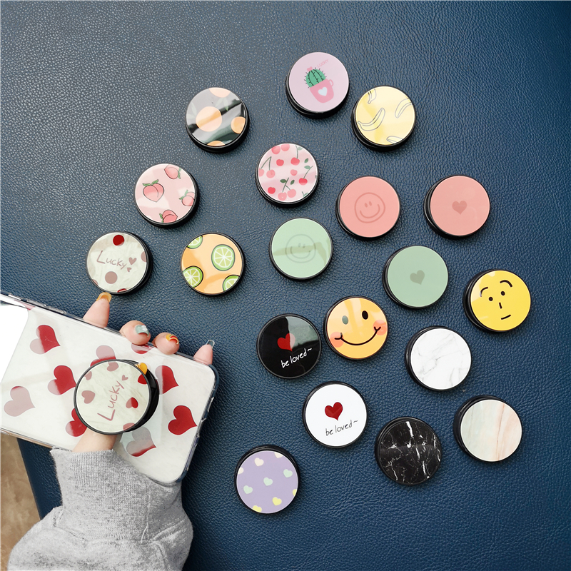 Cute Cartoon Mobile Phone Ring Holder Airbag Fold Stand Bracket Mount For IPhone 11 Pro Max For Samsung For Huawei For Xiaomi