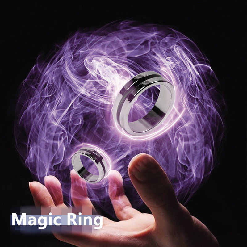 Magic show Magic Trick Floating Ring Magic with Gift Flying card Floating Effect Invisible Suspension Magic Props Thumb Rings