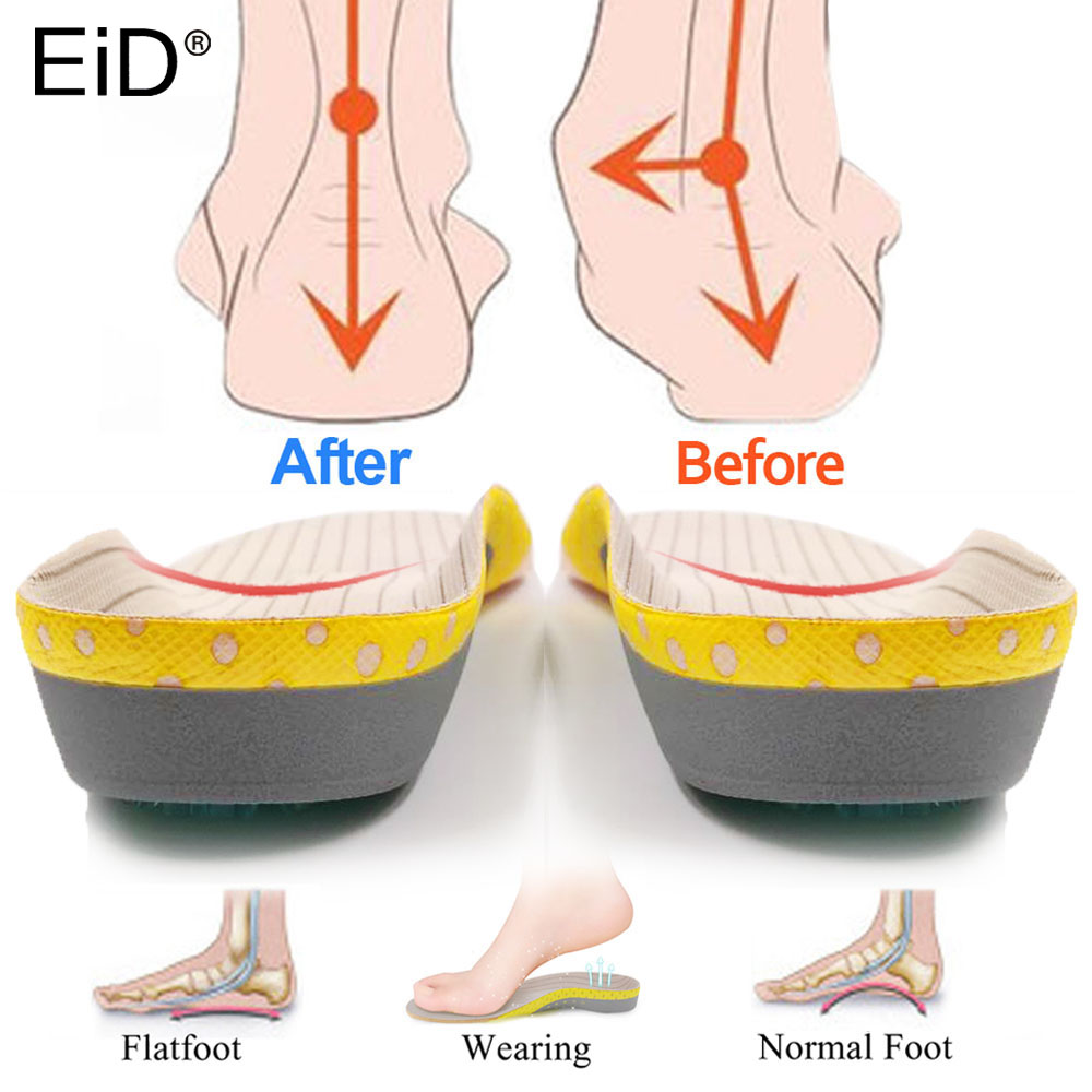 PVC Orthotic Insoles for feet Flat Feet