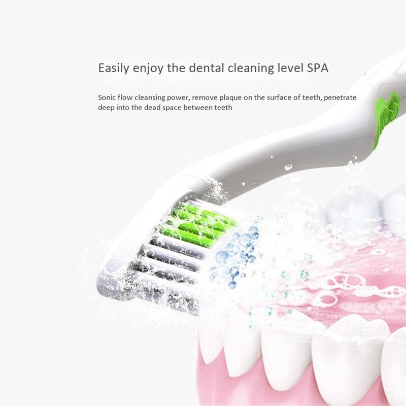 Rotating Electric Toothbrush Dental Care Teeth Brush Oral Hygiene Tooth Brush(Blue)