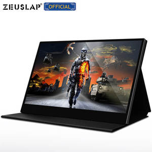ZEUSLAP 4K Portable Monitor Touchscreen 15.6'' UHD 3840x2160 Computer Gaming Monitor for Phone Nintendo Xbox PS4 RPi Win PC Mac