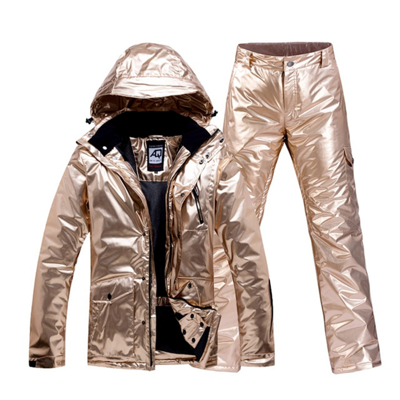 Men Women Ski Suit Warm Winter Thick Ski Jackets Pants Breathable Skiing Clothes
