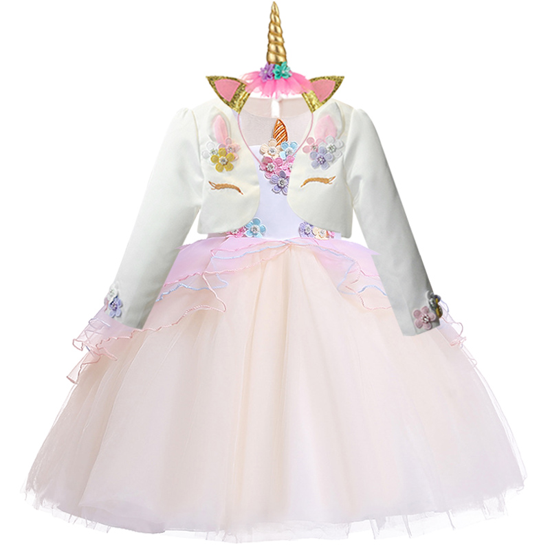 H2b6496ccee9e4bf38b09242b871aac0cV New Unicorn Dress for Girls Embroidery Ball Gown Baby Girl Princess Birthday Dresses for Party Costumes Children Clothing