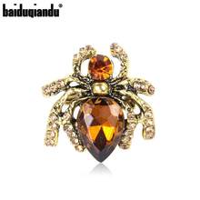 Baiduqiandu-broche de araña de Color dorado/plateado antiguo, alfileres, bisutería de moda, venta directa de fábrica