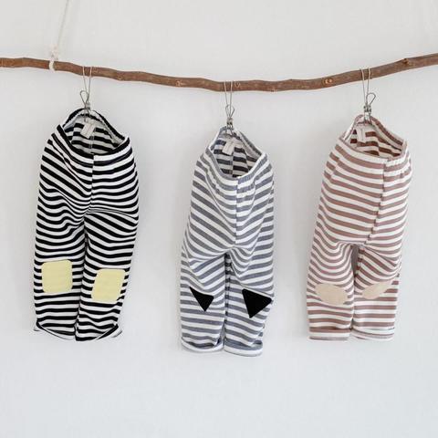 outono novo algodao de alta qualidade bebe meia calca meninas do bebe listrado leggings criancas