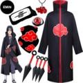 Anime Cloak Cosplay Costume Party Halloween Costume Child Adult Headband Kunai Ring Hokage Ninja Accessories Set