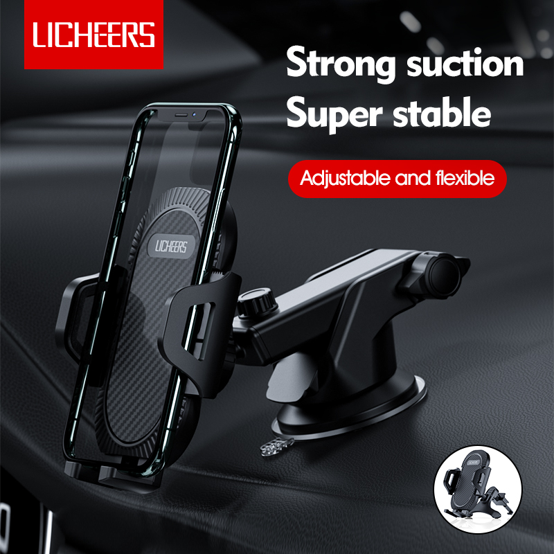 Soporte para teléfono móvil Licheers con ventosa para coche, soporte para teléfono móvil, soporte para coche sin GPS magnético, soporte para iPhone 11 Pro Xiaomi Samsung